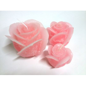 Bougie rose colorée
