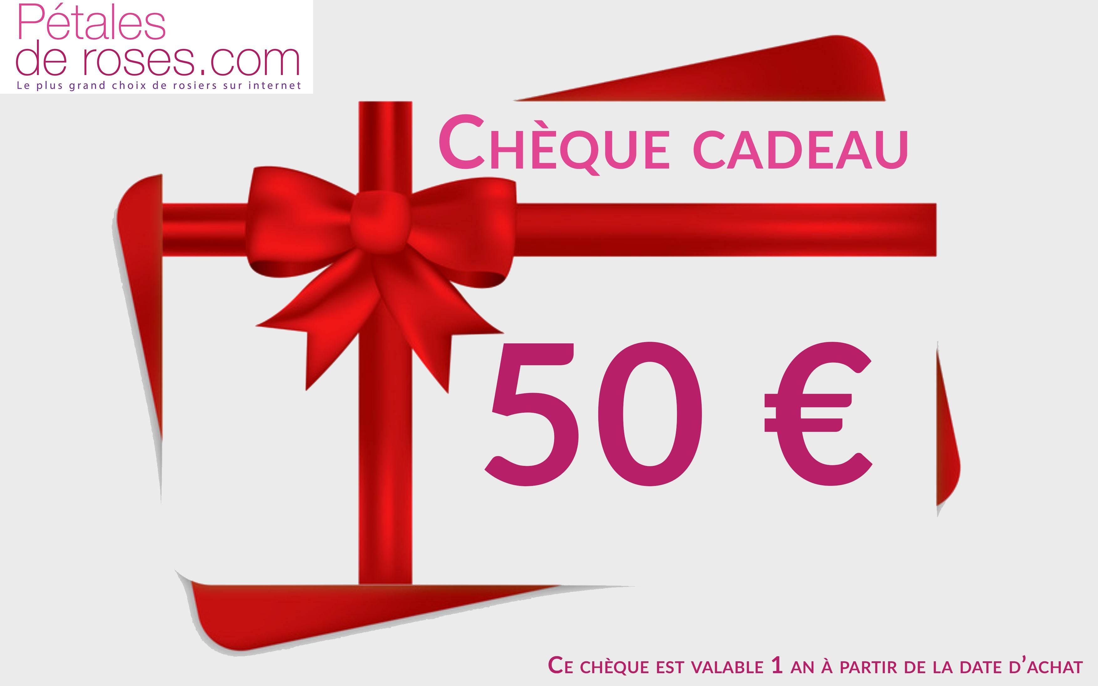 Image Chèque Cadeau chèque cadeau 50 € - pétales de roses